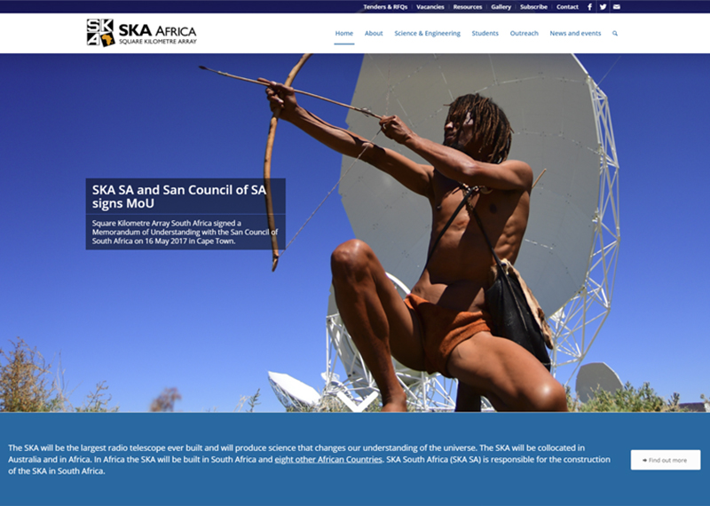 Square Kilometre Array South Africa website