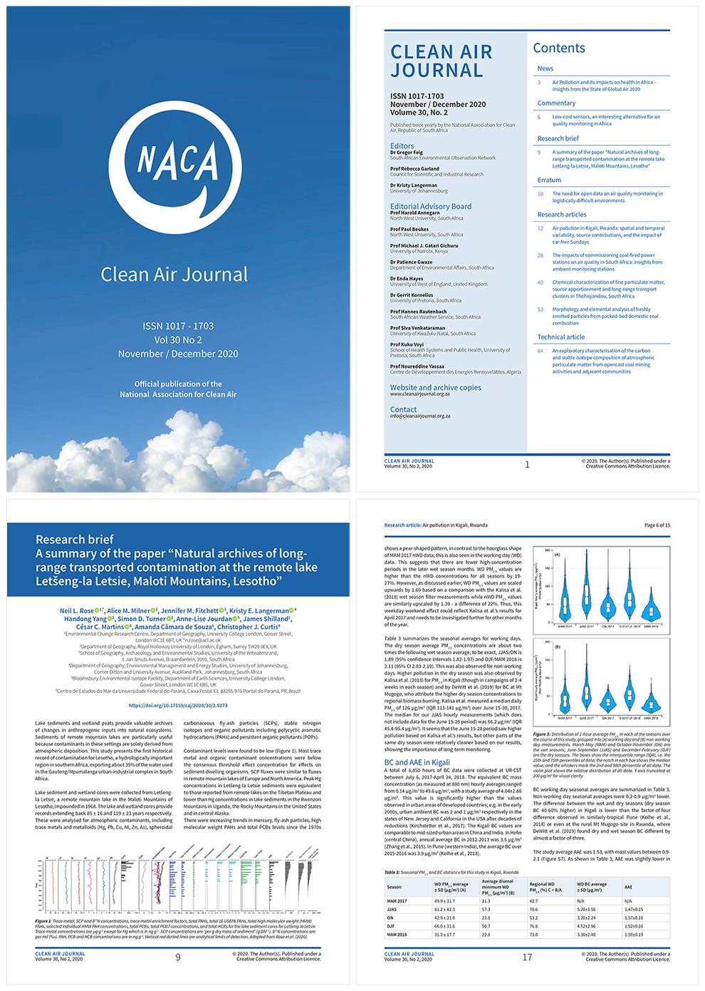 Clean Air Journal print layout