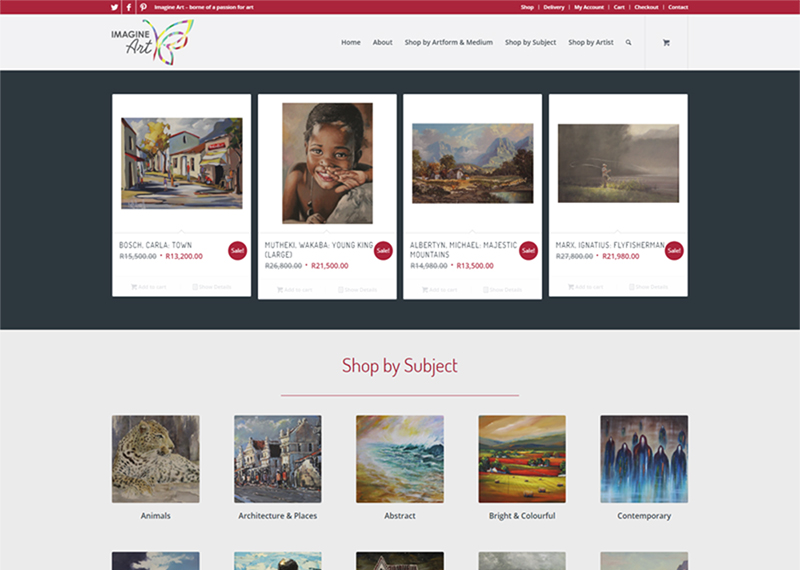 Imagine Art website