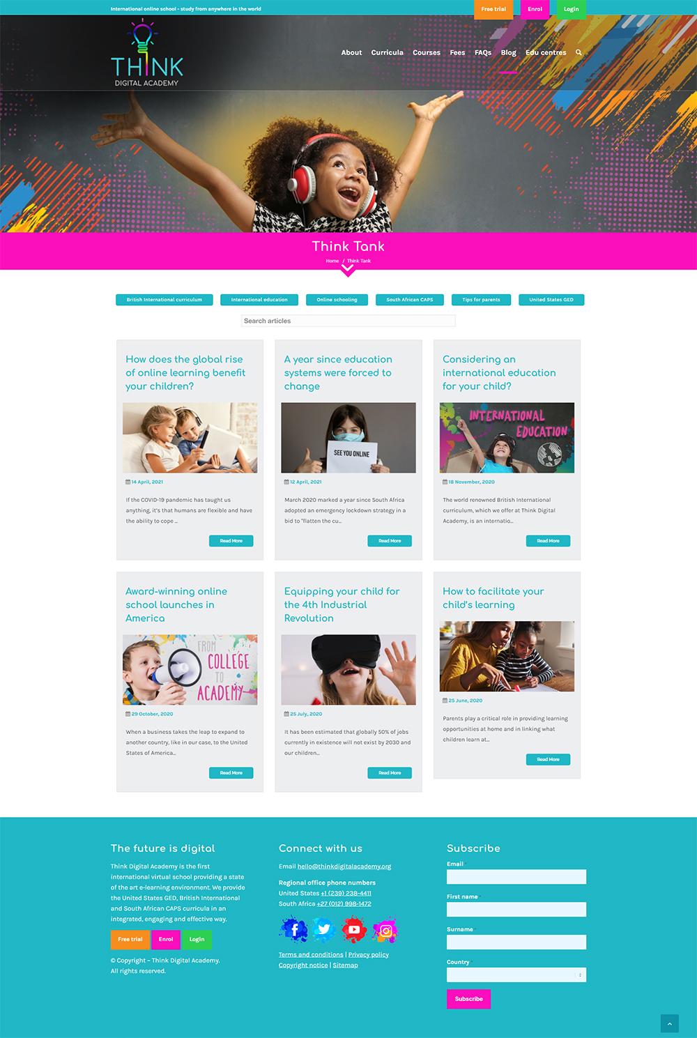 Think Digital Academy blog