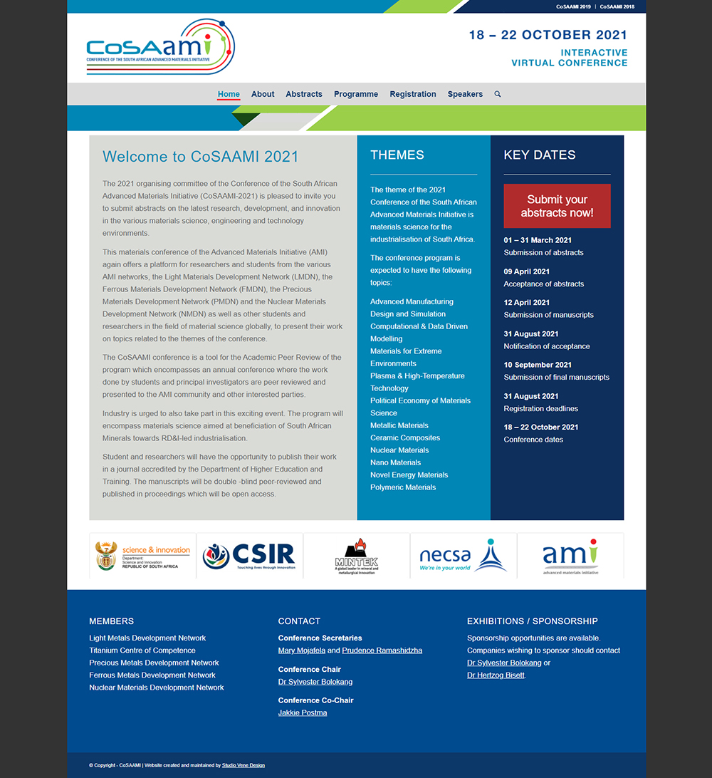 CoSAAMI website home page