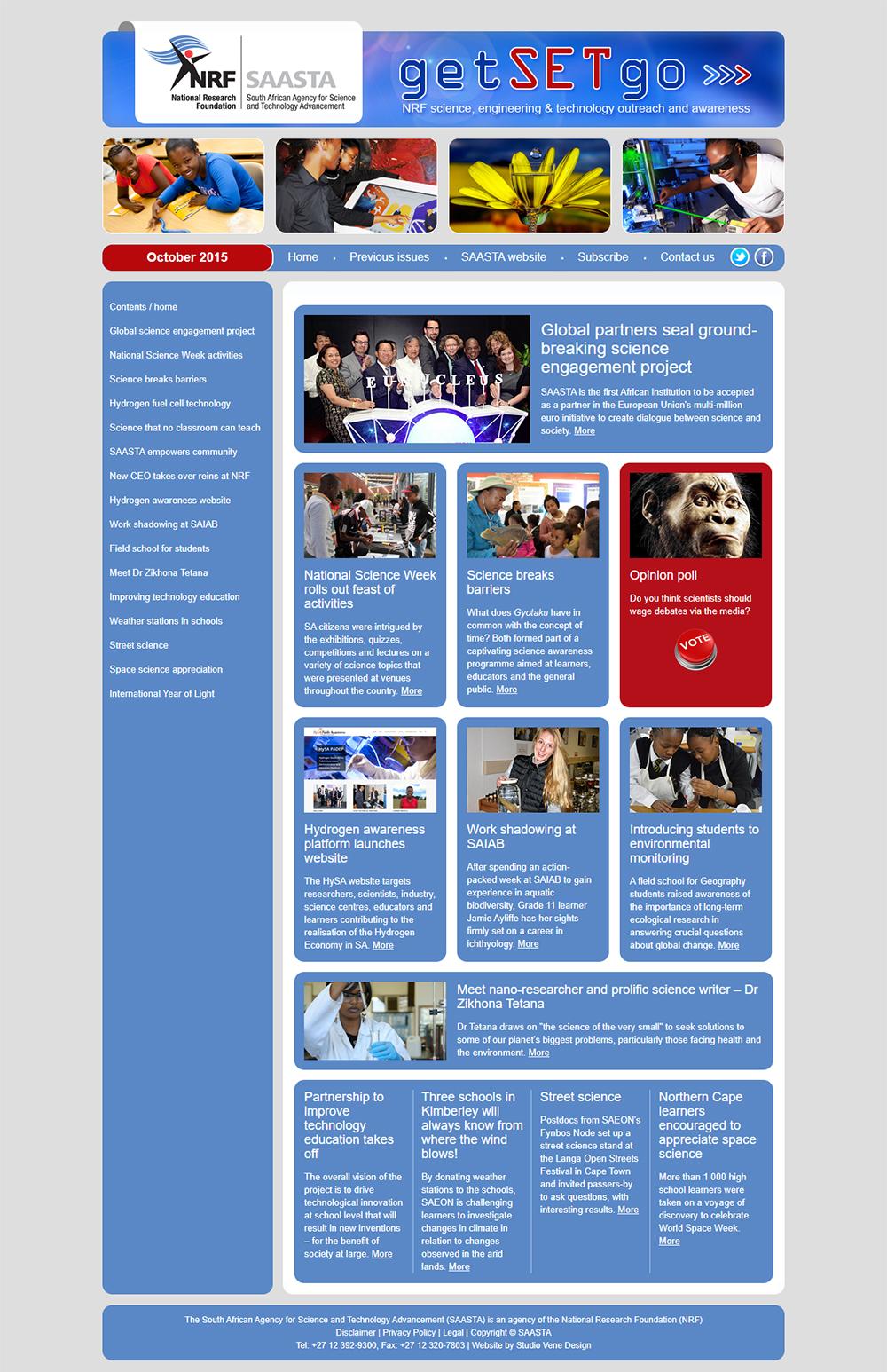 SAASTA getSETgo newsletter home page